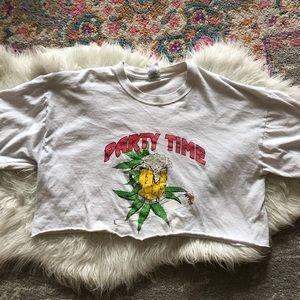 Vintage 80s/90s party time crop top